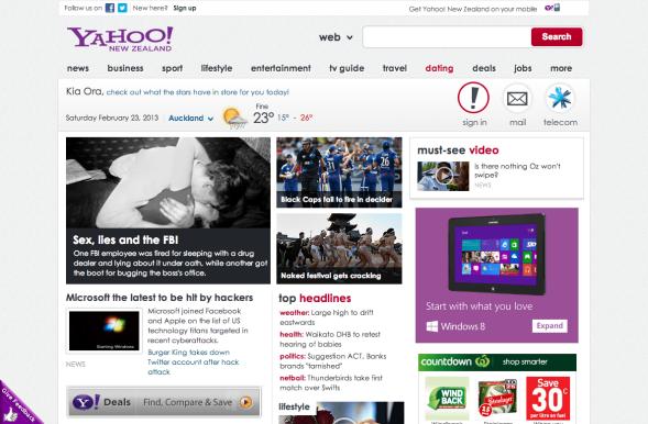 Yahoo_ニュージーランド